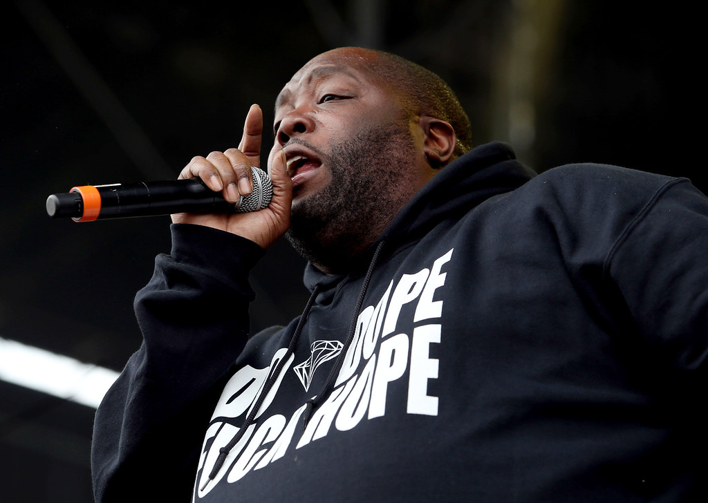 . Rapper Killer Mike, of Run the Jewels, performs at the Land\'s End stage during day one of the Outside Lands music festival at Golden Gate Park in San Francisco, Calif., on Friday, Aug. 8, 2014. (Jane Tyska/Bay Area News Group)