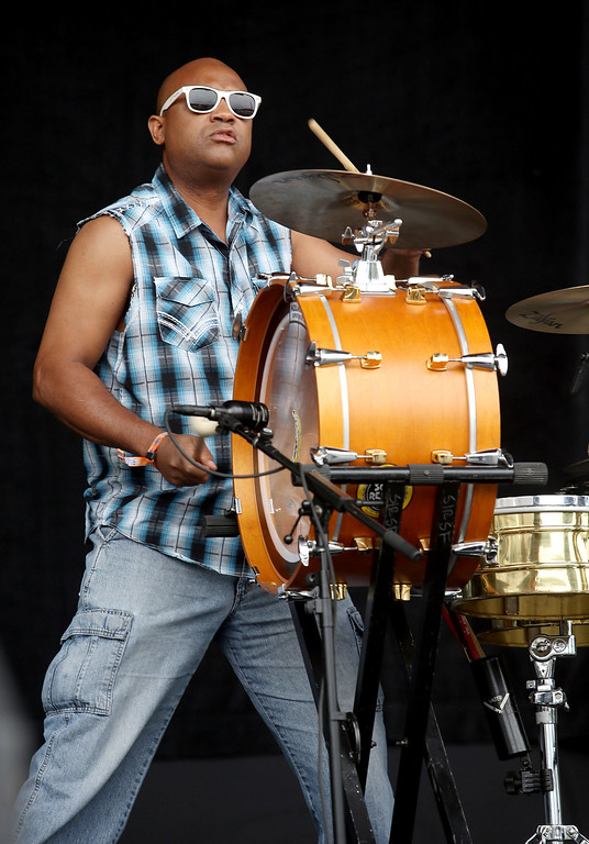 . Soul Rebels drummer and co-founder Lumar LeBlanc performs during day one of the Outside Lands music festival at Golden Gate Park in San Francisco, Calif., on Friday, Aug. 8, 2014. (Jane Tyska/Bay Area News Group)