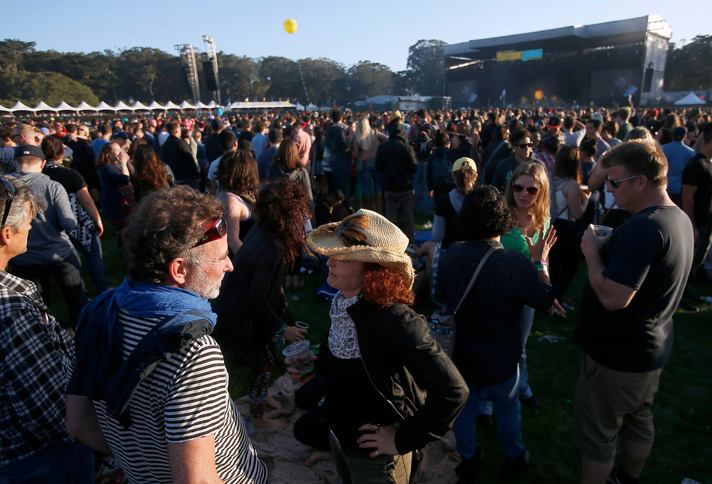 . View of the Land\'s End stage on day one of the Outside Lands music festival at Golden Gate Park in San Francisco, Calif., on Friday, Aug. 8, 2014. (Jane Tyska/Bay Area News Group)