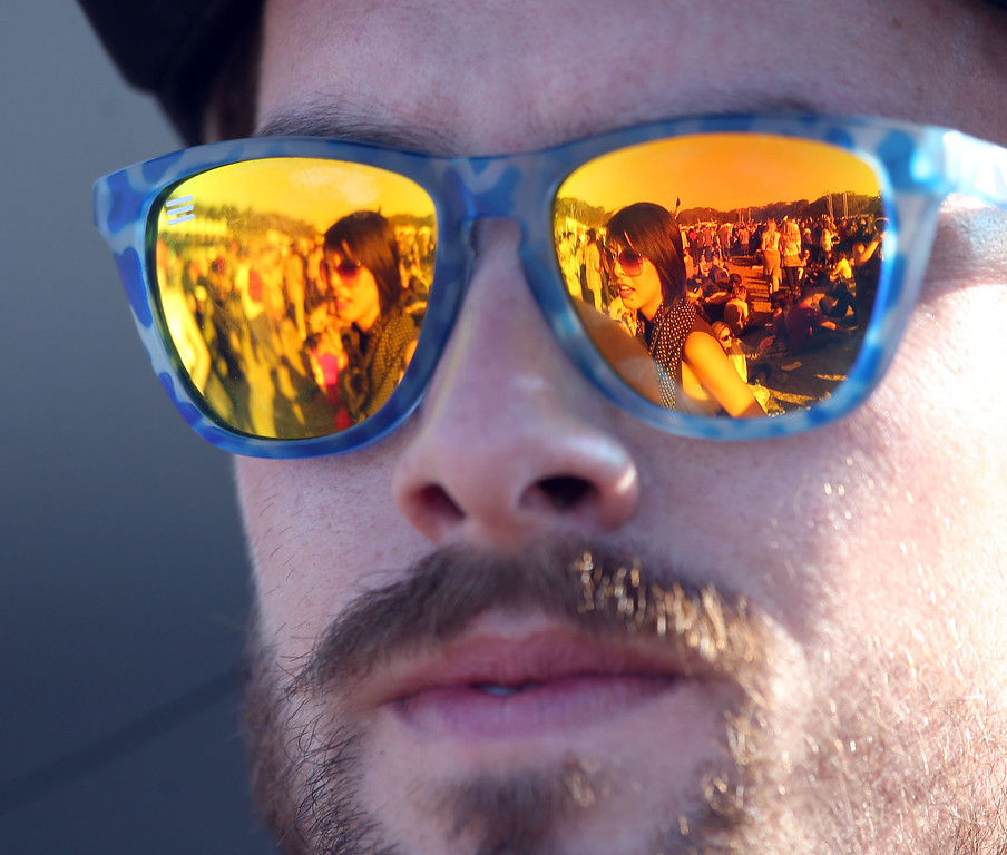 . Robby Durler, of San Francisco, listens to music on the Land\'s End stage during day one of the Outside Lands music festival at Golden Gate Park in San Francisco, Calif., on Friday, Aug. 8, 2014. (Jane Tyska/Bay Area News Group)