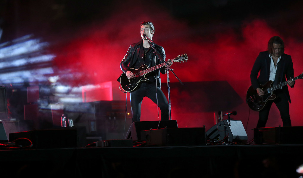 . Arctic Monkeys lead vocalist Alex Turner performs during day one of the Outside Lands music festival at Golden Gate Park in San Francisco, Calif., on Friday, Aug. 8, 2014. (Jane Tyska/Bay Area News Group)