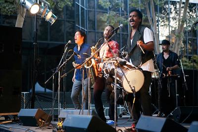 Red Baraat performs during the San Jose Jazz Festival in San Jose, Calif., on Friday, Aug. 12, 2016. (Jim Gensheimer/Bay Area News Group)