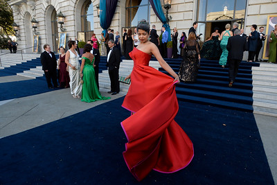 Deepa Pakianathan arrives to the San Francisco Opera's 93rd Season, Opera Ball 2015: Moonlight & Music event at the War Memorial Opera House in San Francisco, Calif., on Friday, Sept. 11, 2015. (Jose Carlos Fajardo/Bay Area News Group)