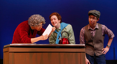 CRYSTAL SPRINGS UPLANDS STUDENTS REHEARSE FOR LUCKY STIFF