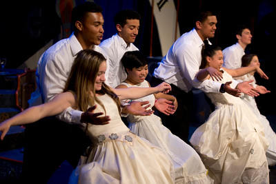 "De La Salle football players help out in ""Cinderella."""