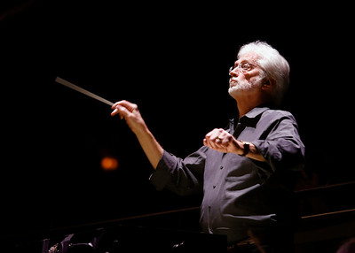 "Photos of David Rohrbaugh of Opera San Jose conducting ""Madame Butterfly"""