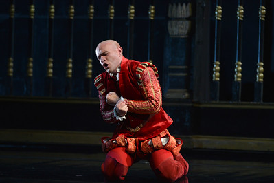 """Michael Fabiano, as Don Carlo, performs during a dress rehearsal of the San Francisco Opera's upcoming production of Verdi's """"Don Carlo"""" at the War Memorial Opera House in San Francisco, Calif., on Thursday, June 9, 2016. (Dan Honda/Bay Area News Group)"""