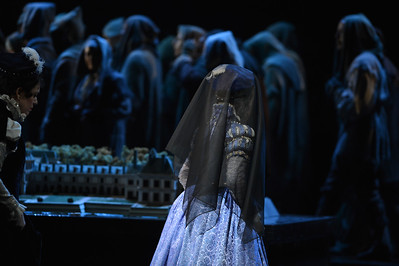 "Ana Maria Martinez, as Elisabetta of Valois, performs during a dress rehearsal of the San Francisco Opera's upcoming production of Verdi's ""Don Carlo"" at the War Memorial Opera House in San Francisco, Calif., on Thursday, June 9, 2016. (Dan Honda/Bay Area News Group)"