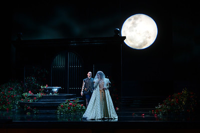 "Michael Fabiano, left, as Don Carlo, and Nadia Krasteva, as Princess Eboli, perform during a dress rehearsal of the San Francisco Opera's upcoming production of Verdi's ""Don Carlo"" at the War Memorial Opera House in San Francisco, Calif., on Thursday, June 9, 2016. (Dan Honda/Bay Area News Group)"