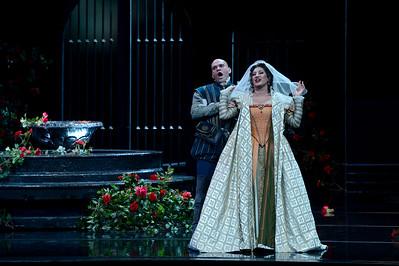 "Michael Fabiano, left, as Don Carlo, and Nadia Krasteva, as Princess Eboli, perform during a dress rehearsal of the San Francisco Opera's upcoming production of Verdi's ""Don Carlo"" at the War Memorial Opera House in San Francisco, Calif., on Thursday, June 9, 2016. (Dan Honda/Bay Area News Group)"
