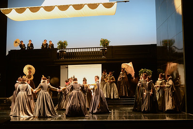 """Cast members perform during a dress rehearsal of the San Francisco Opera's upcoming production of Verdi's """"Don Carlo"""" at the War Memorial Opera House in San Francisco, Calif., on Thursday, June 9, 2016. (Dan Honda/Bay Area News Group)"""