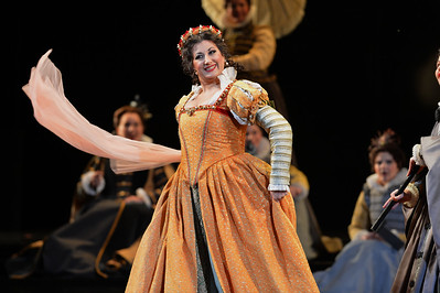"Nadia Krasteva, as Princess Eboli, performs during a dress rehearsal of the San Francisco Opera's upcoming production of Verdi's ""Don Carlo"" at the War Memorial Opera House in San Francisco, Calif., on Thursday, June 9, 2016. (Dan Honda/Bay Area News Group)"