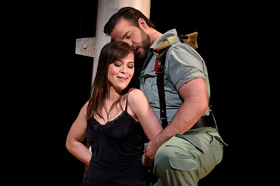 "Meet the sultry Carmen, sung by mezzo-soprano Irene Roberts, and her besotted swain Don Jose, sung by tenor Brian Jagde. They are headed for an on-again, off-again relationship for the decades in ""Carmen"" at the War Memorial Opera House in San Francisco, Calif. (Jose Carlos Fajardo/Bay Area News Group)"