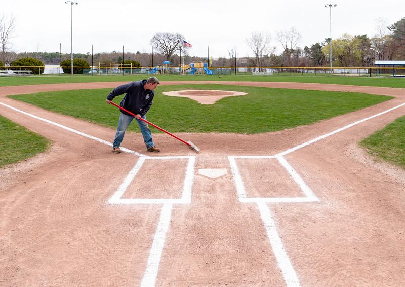 4 22 21 Lynnfield DPW ballfield maintenance 7