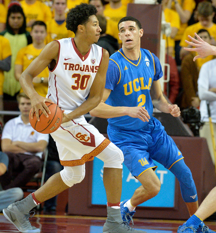 . USC host UCLA men\'s basketball rivalry showdown in Los Angeles Wednesday, January 25, 2017. (Photo by Thomas R. Cordova, Daily News/SCNG)
