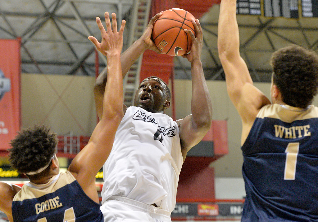 . Long Beach State host UC Davis in some Big West NCAA Men\'s Basketball in Long Beach Thursday, February 16, 2017.  (Photo by Thomas R. Cordova, Press-Telegram/SCNG)