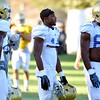 UCLA's Theo Howard, center, participates in football practice on Wednesday, August 17, 2016 at California State University San Bernardino in San Bernardino, Ca. (Micah Escamilla/The Sun, SCNG)