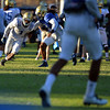 UCLA's Ishmael Adams, left, and Randall Goforth participate in football practice on Wednesday, August 17, 2016 at California State University San Bernardino in San Bernardino, Ca. (Micah Escamilla/The Sun, SCNG)
