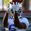 UCLA's Stephen Johnson III makes a catch during practice on Wednesday, August 17, 2016 at California State University San Bernardino in San Bernardino, Ca. (Micah Escamilla/The Sun, SCNG)