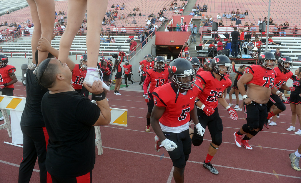 . LBCC football team hits the field in Long Beach on Saturday, September 9, 2017. Junior College football - Long Beach City College vs Saddleback. (Photo by Scott Varley, Press-Telegram/SCNG)