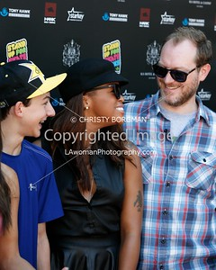 Mitchie Brusco, Eve and Maximillion Cooper attending the 10th annual Stand Up For Skateparks benefit