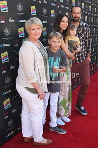 Jason Lee and family attending the 10th annual Stand Up For Skateparks benefit