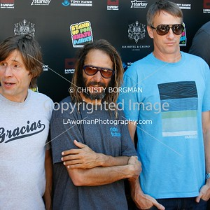 Rodney Mullen, Tony Alva and Tony Hawk attending the 10th annual Stand Up For Skateparks benefit
