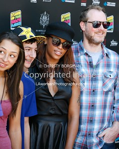 Lizzie Armanto, Mitchie Brusco, Eve and Maximillion Cooper attending the 10th annual Stand Up For Skateparks benefit