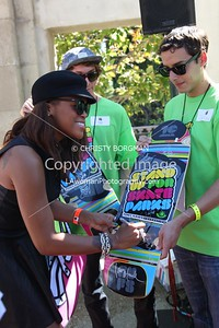 Eve attending the 10th annual Stand Up For Skateparks benefit