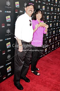 Richard Pink (co-owner of Pink's hot dog stand)and his wife Gloria Pink, attending the 10th annual Stand Up For Skateparks benefit