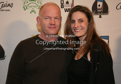 Glen Morshower and his wife Carolyn Morshower arrive at the 7th Annual World Poker Invitational on February 28, 2009 at the Commerce Casino, in Commerce, CA.