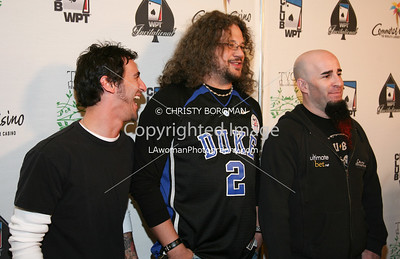 Sully Erna, Joseph D Reitman and Scott Ian arrive at the 7th Annual World Poker Invitational on February 28, 2009 at the Commerce Casino, in Commerce, CA.