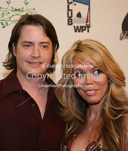 Jeremy London and Melissa Cunningham arrive at the 7th Annual World Poker Invitational on February 28, 2009 at the Commerce Casino, in Commerce, CA.