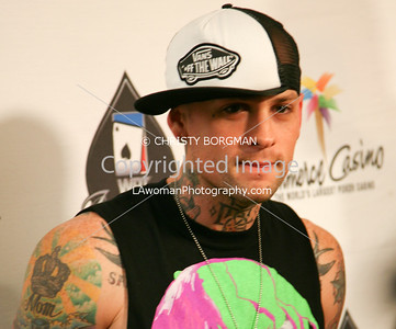 Benji Madden arrives at the 7th Annual World Poker Invitational on February 28, 2009 at the Commerce Casino, in Commerce, CA.