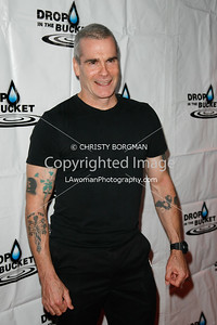 Henry Rollins arriving at the Drop In The Bucket benefit