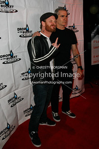 Corey Taylor and Henry Rollins arriving at the Drop In The Bucket benefit