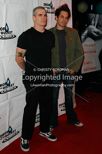 Henry Rollins and York Shackleton arriving at the Drop In The Bucket benefit