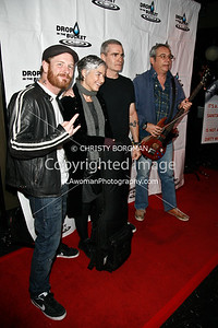 Corey Taylor, Kira Roessler, Henry Rollins and Mike Watt arriving at the Drop In The Bucket benefit
