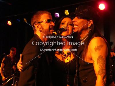 Ringo Starr, Paula Bowers-Sanchez and Micki Free