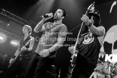 Duff McKagen, Franky Perez and Slash