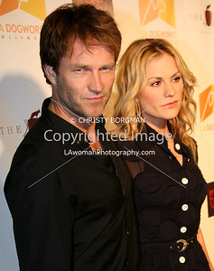 Stephen Moyer and Anna Paquin arrive at A Night Of Emotion on September 23, 2009 at LA Dogworks.