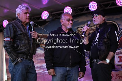 Jay Leno, Oliver Shokouh and Willie G. Davidson