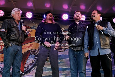 Jay Leno and Rusty Coones, Christopher Douglas Reed and Emilio Rivera