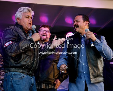 Jay Leno, Christopher Douglas Reed and Emilio Rivera
