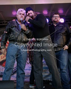 Jay Leno and Rusty Coones and Christopher Douglas Reed