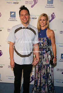 Mark Hoppus (Blink-182) and his wife Skye Everly. Mark hosted the event.