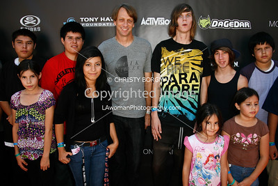 Tony Hawk and kids
