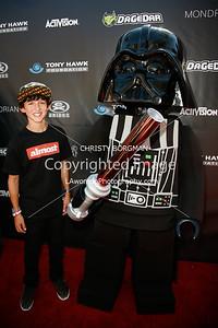 Mitchie Brusco and Legoland's Darth Vader