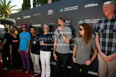 Mat Hoffman, Mitchie Brusco, Kevin Staab, Rooftop, Jamie Lee Curtis, Tony Hawk, Shaun White, and Bill Walton