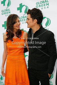 June 4, 2011 Orlando Bloom and Miranda Kerr at a Global Green's 15th Annual Millennium Awards the Fairmont Miramar Hotel & Bungalows in Santa Monica, CA.